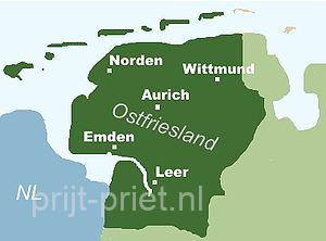 Kaart Ostfriesland